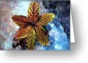 Bittersweet Digital Art Greeting Cards - Bittersweet Leaves Greeting Card by Beth Akerman