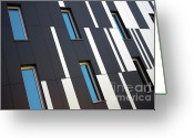 Stripes Greeting Cards - Black and White Greeting Card by Carlos Caetano