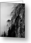 Romania Greeting Cards - Black And White Silhouette Of The Mountains. Greeting Card by Made By  Vitaliebrega.com
