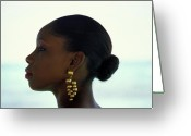 Gold Earrings Photo Greeting Cards - Black Beauty Greeting Card by Carl Purcell
