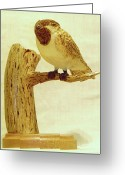 Wildlife Sculpture Greeting Cards - Black-Capped Chickadee Greeting Card by Russell Ellingsworth