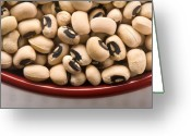 Eyed Greeting Cards - Black Eyed Peas Greeting Card by Steve Gadomski