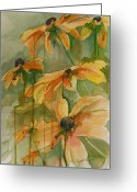 Black Eyed Susans Greeting Cards - Black Eyed Susans Greeting Card by Gretchen Bjornson