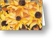 Ken Greeting Cards - Black Eyed Susans Greeting Card by Ken Powers
