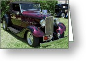 Street Rod Photo Greeting Cards - Black Flames Greeting Card by DigiArt Diaries by Vicky Browning
