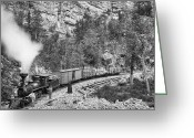 Freight Greeting Cards - BLACK HILLS and FORT PIERRE RAILROAD c. 1890 Greeting Card by Daniel Hagerman