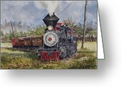 Railroad Track Greeting Cards - Black Hills Central Number 7 Greeting Card by Sam Sidders