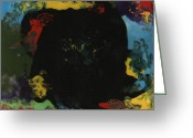 Color Ceramics Greeting Cards - Black hole  Greeting Card by Gail Schmiedlin