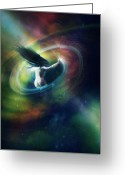 Nebula Greeting Cards - Black Hole Greeting Card by Karen Koski
