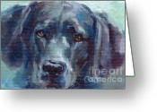 Black Lab Greeting Cards - Black Lab Bandit Greeting Card by Kimberly Santini