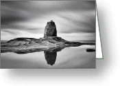 Uk Greeting Cards - Black Nab Whitby Greeting Card by Ian Barber