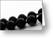 Pearls Greeting Cards - Black pearls Greeting Card by Blink Images