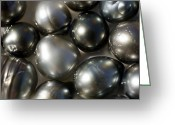 Oysters Greeting Cards - Black Pearls Displayed In A Pearl Greeting Card by Tim Laman