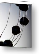 Pearls Greeting Cards - Black Pearls Greeting Card by Lauren Radke