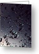 Moisture Greeting Cards - Black Rain Greeting Card by Steven Milner