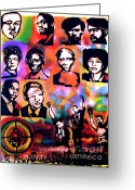 Civil Rights Greeting Cards - Black Revolution Greeting Card by Tony B Conscious