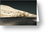 Kelso Greeting Cards - Black Sands of Kelso Dunes Greeting Card by Chris Brannen