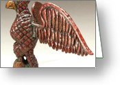 Flying Sculpture Greeting Cards - Black Schimmel Greeting Card by James Neill