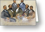 E Black Greeting Cards - Black Senators, 1872 Greeting Card by Granger