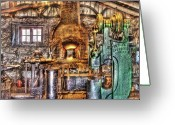 Perfect Greeting Cards - Black Smith - The Blacksmith shop Greeting Card by Mike Savad
