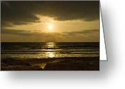 Ost Photo Greeting Cards - Black Sunset Greeting Card by Nadya Ost