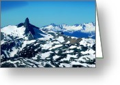 Drop Pyrography Greeting Cards - BLACK TUSK - Garibaldi Provincial Park BC Greeting Card by Geegee W