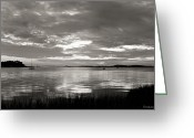 Bonnes Eyes Fine Art Photography Greeting Cards - Black White River Greeting Card by Bonnes Eyes Fine Art Photography