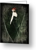 Black Widow Greeting Cards - Black Widow II Greeting Card by Spokenin RED