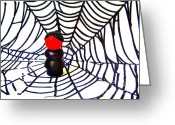 Black Widow Greeting Cards - Black Widow Greeting Card by Ricky Sencion