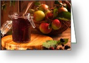 Charm Greeting Cards - Blackberry and Apple Jam Greeting Card by Christopher Elwell and Amanda Haselock