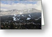 Winter Trees Photo Greeting Cards - Blackcomb Mountain Greeting Card by Pierre Leclerc