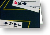 Gameroom Greeting Cards - Blackjack Greeting Card by Tami Bush