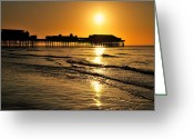 Big Wheel Greeting Cards - Blackpool Central Pier  Greeting Card by Jason Connolly
