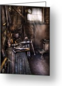 Maintenance Greeting Cards - Blacksmith - The Blacksmiths Shop Greeting Card by Mike Savad