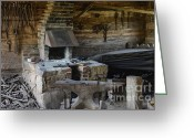 Berks County Greeting Cards - Blacksmith Shop Greeting Card by John Greim