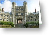 Hall Greeting Cards - Blair Hall Princeton Greeting Card by John Greim