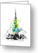Colorful Digital Art Greeting Cards - Blast Off Greeting Card by Budi Satria Kwan
