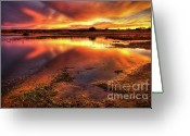 Rich Colored Greeting Cards - Blazing Sky Greeting Card by Carlos Caetano