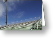 Bleachers Greeting Cards - Bleachers at a Sports Field Greeting Card by Skip Nall