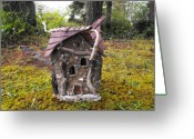 Magic Sculpture Greeting Cards - Blessed Home Greeting Card by ANGELine CROWder