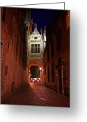 Alley Greeting Cards - Blind Donkey Alley Greeting Card by Adam Romanowicz