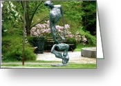 Standing Sculpture Greeting Cards - Blind Faith Greeting Card by Al Goldfarb