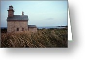 Scenic Byways Greeting Cards - Block Island North West Lighthouse Greeting Card by Skip Willits