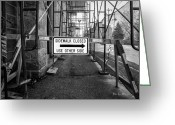 Construction Greeting Cards - Blocking The Path Of My Retreat  Greeting Card by Bob Orsillo
