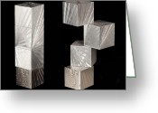 Standing Sculpture Greeting Cards - Blocks II Greeting Card by Rick Roth