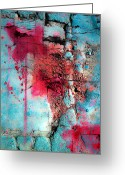 Blue Blood Greeting Cards - Blood And Stones  Greeting Card by Jerry Cordeiro