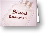 Donation Greeting Cards - Blood Donation Greeting Card by Cristina Pedrazzini