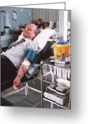 Donation Greeting Cards - Blood Donation Greeting Card by Tek Image