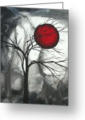 Abstract Painting Greeting Cards - Blood of the Moon 2 by MADART Greeting Card by Megan Duncanson