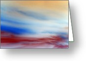 Heaven Digital Art Greeting Cards - Bloody Clouds Greeting Card by Munir Alawi